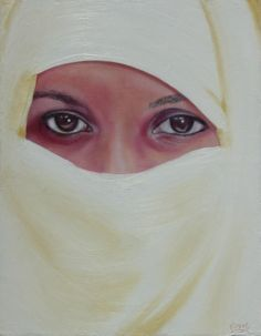 Beauty Beyond the Veil - WetCanvas Veil, Peeps, Drawings, Artwork, Artist, Beauty, Work Of Art, Cosmetology, Drawing