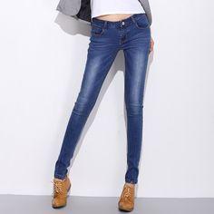 33.99$  Watch now  - 2016  American Apparel Women Jeans Fashion Women Dames Jeans Broek Women's Skinny Leg Jeans Pants Stretch Leggings Denim Jeans