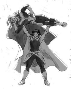 All Might and Nana [Boku no Hero Academia]  Credits to the artist