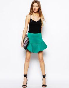 ASOS mini flounce skirt