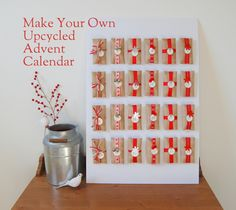 Upcycled Advent Calendar using Toilet Paper rolls