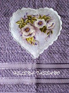 Helena Tassano manuales, pintura sobre tela, clases de pintura, pintura en lienzo: toalla de cara