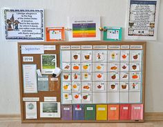 Preschool calendar on pinterest preschool calendar time for Calendar bulletin board printables