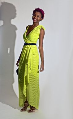 Sexy wrap dress. Designer Cascade Dress 05/2011 #157 from Burdastyle