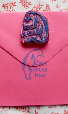 like air mail, but BEAR mail  http://www.etsy.com/listing/65708659/like-air-mail-but-bear-mail