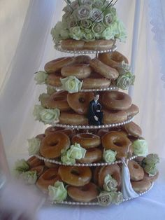 donut cake-Noah LOVES donuts, I am thinking of ideas to do a donut cake with hotwheels and other boy stuff for his birthday.