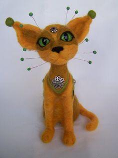 Ooak needle felted space cosmic cat art doll 748 X 393 by ArteAnRy ...