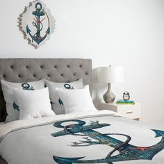 I MUST HAVE THIS!!!!!   Terry Fan Lost At Sea Duvet Cover   DENY Designs Home Accessories #blue #green #color #decor #inspiration