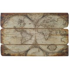 Wood Map Wall Art world map wall art, spiritual, vintage carved wood map, his