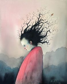 My favorite illustrator: Lisa Aisato November 2014 Massage Images, Tree People, Drawing Faces, Drawings, Bad Hair Day, Hair Art, Betty Boop, Image Boards, Beautiful Images