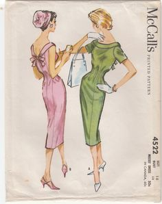 McCall's 4522 Copyright 1958** I use to help my grandmother put these patterns together~~~FUN TIMES!!!