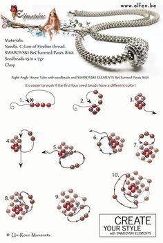 44 New Ideas crochet jewelry patterns free beaded bracelets Crochet Jewelry Patterns, Beaded Necklace Patterns, Beading Patterns Free, Beading Tutorials, Bead Patterns, Weaving Patterns, Color Patterns, Knitting Patterns, Embroidery Patterns