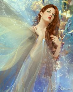 Paper - Signe astrologique : Cancer by Pat Brennan Zodiac Art, Zodiac Signs, Fantasy Images, Fantasy Art, Fantasy Women, Statues, Cancer Moon, Dream Art, Fairy Land