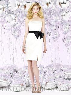 Awesome Sashes / Ribbons Sheath / Column Strapless Knee-length Taffeta Bridesmaid Dresses