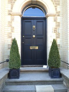 My newly painted front door. Farrow and Ball Railings. : ball door - pezcame.com