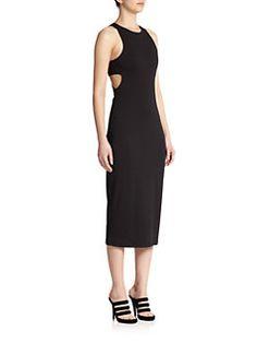 T by Alexander Wang - Bandeau-Back Sheath Dress