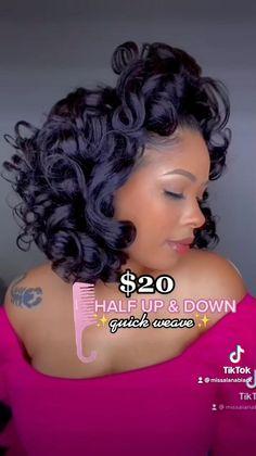Baddie Hairstyles, Black Women Hairstyles, Down Hairstyles, Braided Hairstyles, Short Quick Weave Hairstyles, Natural Hair Care, Natural Hair Styles, Short Hair Styles, Hair Styles With Weave
