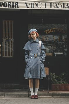 Japanese street fashion / Droptokyo I don't usually like it when people are dripping in denim but this one actually works. I'm actually in love with this denim coat