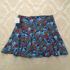 "NEW Zara floral print mini skirt medium M New with tags by Zara. A-line silhouette with floral print. Hidden side zipper. 17"" length. Viscose fabric. Zara Skirts Mini"