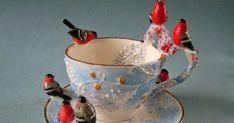 Vintage Tea, Vintage Cups, Kintsugi, Teapots And Cups, Teacups, China Tea Cups, My Cup Of Tea, Chocolate Pots, Tea Cup Saucer