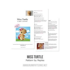Miss Turtle amigurumi pattern by Pepika