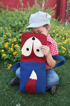 Messenger Bag Fox Small Wool Bag Kids Purse by SavageSeeds on Etsy, $45.00... What does the fox say?!?!?!?!?!?!?!?!?!
