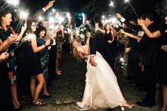 sparkler exit and a kiss in the rain, just magical!