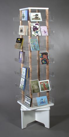 Craft Show Displays, Craft Show Ideas, Store Displays, Card Displays, Retail Displays, Book Display Stand, Acrylic Display Stands, Display Window, Visual Merchandising