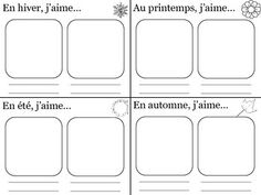 FREE Nice template for French seasons and pastimes. (inspired by Bien Dit 1, Chapter 5)