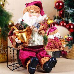 35cm Sitting Santa Claus Doll Figurine - Christmas Decoration