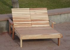 Beach Double Chaise Lounge | The Best Wood Furniture