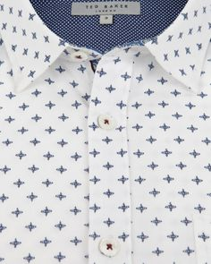 Cross print shirt - White | Shirts | Ted Baker UK
