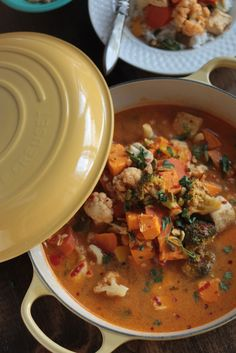 Spicy Vegetable Coconut Curry, use vegetable stock