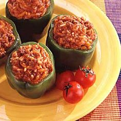 Plantation Stuffed Peppers. Looks really good and easy, definitely gonna have to try!
