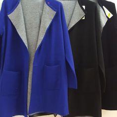 #cardigan #interno a #contrasto #blu elettrico #blu #nero #valeria #abbigliamento
