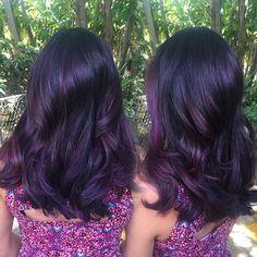 Deep dimensional plum - Trim the Locks - Hair Colors Deep Purple Hair, Dark Hair, Dark Violet Hair, Violet Hair Colors, White Hair, Pretty Hair Color, Hair Color And Cut, Balayage Hair, Haircolor
