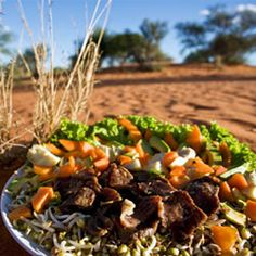 Take on our recipe challenge of a Kalahari Biltong Salad – it's a mean, clean, protein-filled machine! Braai Recipes, Cooking Recipes, Healthy Salads, Healthy Recipes, Easy Recipes, Onion Sprouts, Biltong, South African Recipes, Christmas Dishes