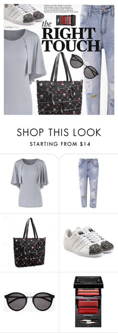 """Casual Friday"" by pokadoll ❤ liked on Polyvore featuring adidas Originals, Yves Saint Laurent, Sephora Collection, polyvoreeditorial and polyvoreset"