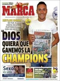Dios quiero que game is la Champions Portada de Marca (Spain) 22.3.16