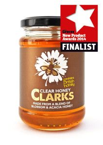 Great news! Clarks Clear Honey has been recognised & nominated for The Grocer New Product Development Awards in the sweet grocery category with Lyles Golden Syrup & Ambrosia! Clarks, Acacia Honey, Golden Syrup, Maple Syrup, New Product, Candle Jars, British, Product Development, Marmalade