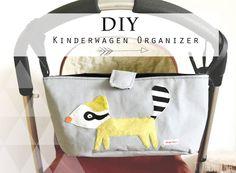 Babyutensilien nähen: Kinderwagen Organizer