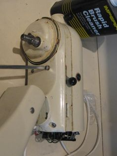 Removing the screws. How to grease and clean a kitchen aid mixer