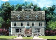 Find your dream early-american style house plan such as Plan which is a 3093 sq ft, 4 bed, 4 bath home with 3 garage stalls from Monster House Plans. Colonial House Plans, Colonial Style Homes, House Floor Plans, American Style House, American Houses, Alternate Exterior, Monster House Plans, House Design, Early American