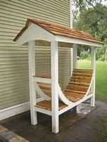 You want to build a outdoor firewood rack? Here is a some firewood storage and creative firewood rack ideas for outdoors. Lots of great building tutorials and DIY-friendly inspirations! Outdoor Firewood Rack, Firewood Shed, Firewood Storage, Firewood Holder, Lumber Storage, Outdoor Storage, Outdoor Spaces, Outdoor Living, Outdoor Decor