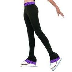 Chloe Noel Women's Polkadot Contrast Waist Pants - need these for skating!