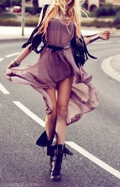 rock chick style with a touch of elegance