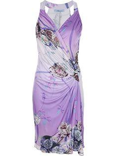 BLUMARINE Ruched Wrap Dress