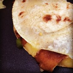 Up next: a recipe for Cheese & Mushroom Quesadillas - a great and seasonal QUICK MEAL for a winter night. Gr8 rstd tomatillo salsa. In 2T lard/oil, cook 1lb slicd shrooms+serrano chiles & epazote til dry.Add cilantro.Brush corn torts w oil,fold ovrchz+mush.Cook til chz melts