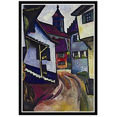 @Overstock - Artist: August Macke  Title: Street with a Church  Product type: Framed art printhttp://www.overstock.com/Home-Garden/August-Macke-Street-with-a-Church-Framed-Art-Print/4843437/product.html?CID=214117 $57.99