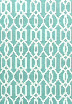 Turquoise and White Linen Fabric for Pillows on Sectional